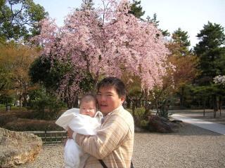 岐阜公園で桜の元(2006-04-07)