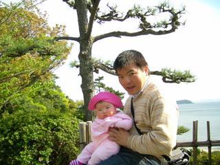 蒲郡で三河湾を臨んで(2006-04-16)