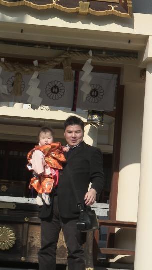 美和子、愛知縣護国神社稚児行列