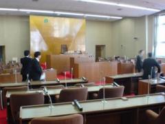 登別市議会視察/議場の様子(2008-05-16)