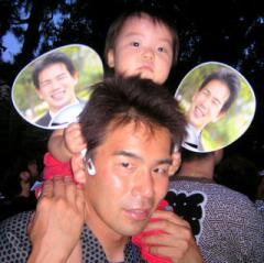 刈谷万燈祭において、大西健介氏とともに(2008-07-27)