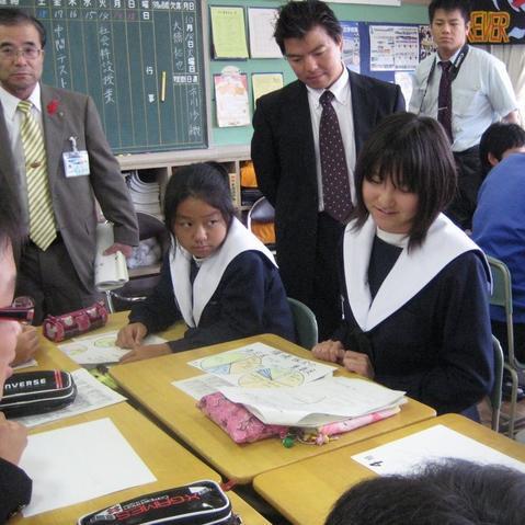 安城市内の某中学校にて(2008-10-14)