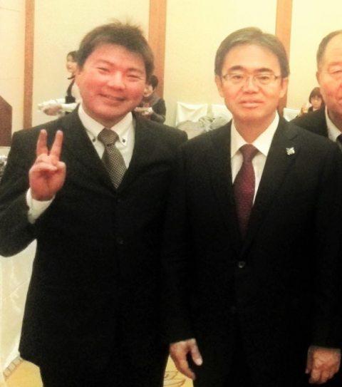 大村秀章・愛知県知事とともに