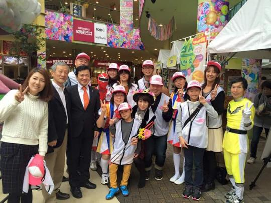 Let's エコアクション: Let's エコアクションinAichiに出演した朝美活ABKのメンバーと応援に駆けつけた安城副市長と坂部隆司安城市議