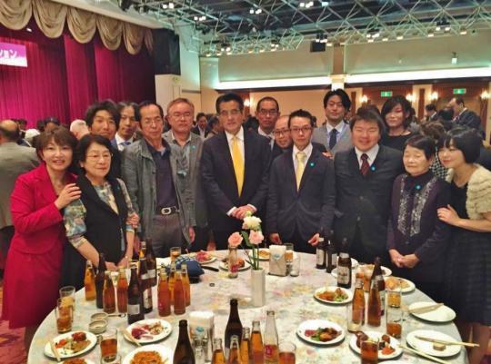 岡田克也・民主党代表らとともに: 平成27年11月1日 :岐阜グランドホテル 右から3番目:榊原平