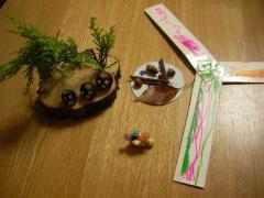 森の学校で娘がつくった作品